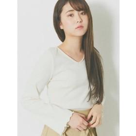 【RETRO GIRL:トップス】2wayクロス長袖テレコCT