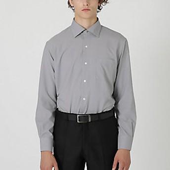 【Crestbridge 】【イージーケア】ストレッチハウンドトゥースセミワイドカラーシャツ