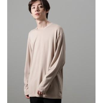 ジュンレッド/【予約】/ポンチクルーネックロンT/ベージュ/M