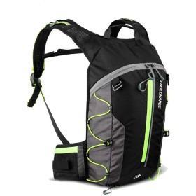 ハイドレーションパック ランニングバッグ 登山リュックサック マラソンリュック デイパック バックパック大容量 給水 リュック バッグ 自転車 サイクリング 10L大容量 収納可 通気 アウトドア 収納袋付き (ブラック+グリーン)