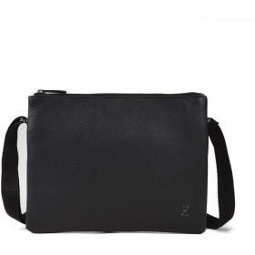 TERRACOMO NY (テラコモ ニューヨーク 米国)「ハイライン」メンズ 本革 2 way レザーショルダーバッグ ・ブラック| High Line Clutch (Italian Black VT Leather) | High Line Clutch