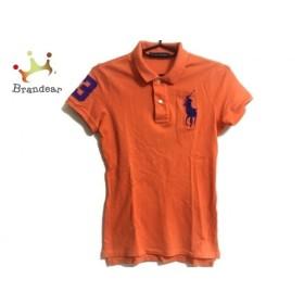 ラルフローレン 半袖ポロシャツ サイズS レディース 美品 ビッグポニー オレンジ×パープル 新着 20190815