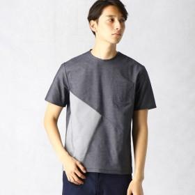 [マルイ] 【ALBINI CORCORAN & VERTICAL】 デニムジャージー切り替えTシャツ/コムサメン(COMME CA MEN)