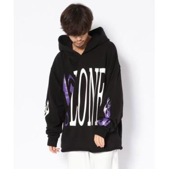 ビーセカンド V LONE x Palm Angels PK/ヴィローンxパームエンジェルス/パーカー メンズ BLACK XL 【B'2nd】