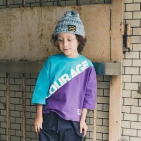 ブランシェス(branshes)/カラーブロック8分袖Tシャツ