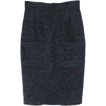 《セール開催中》BLUMARINE レディース ひざ丈スカート ダークブルー 44 ポリエステル 100%