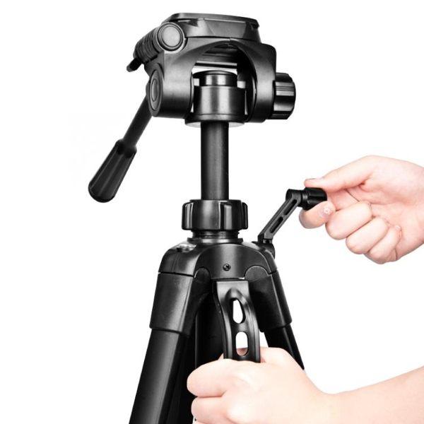 攝影架偉峰單反相機三腳架 便攜攝影攝像機vlog戶外拍照手機直播支晶彩生活