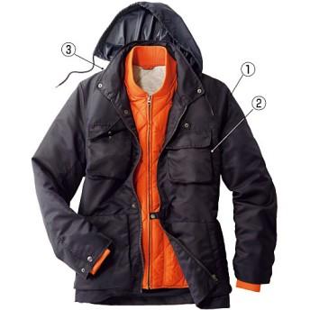 50%OFF【メンズ】 軽量中綿ライナー付きジャケット(エアコンダウン) ■カラー:ブラック系 ■サイズ:M,L,LL,3L,5L
