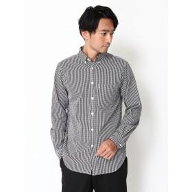 【6,000円(税込)以上のお買物で全国送料無料。】・ギンガムチェック柄ボタンダウンシャツ