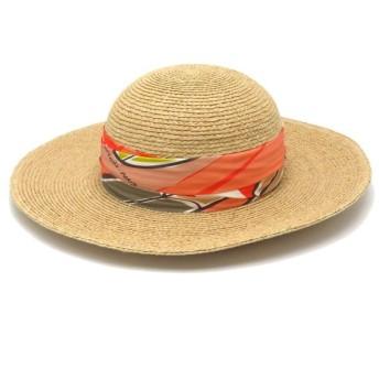 エルメス ロマンス ハット 麦わら帽子 H181022N 0958 海とサーフィン Sea Surf&Fun 美品FALSE