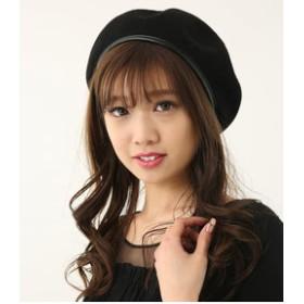 【rienda:帽子】Fレザーパイピングサーモベレー
