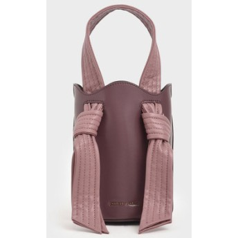 【2019 FALL 新作】ノットハンドルバケツバッグ / Knotted Handle Bucket Bag (Pink)