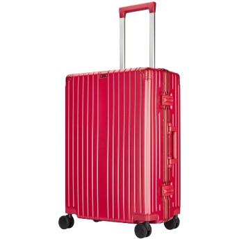 Langxj hj スーツケース キャリーバッグ 超軽量 TSAロック搭載 ファスナータイプ 6021 (XL, レッド)