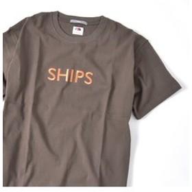【SHIPS:トップス】SU:【一部WEB限定カラー】SHIPSロゴ エンブロイダリー Tシャツ