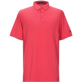 《9/20まで! 限定セール開催中》LES COPAINS メンズ ポロシャツ レッド 54 コットン 100%