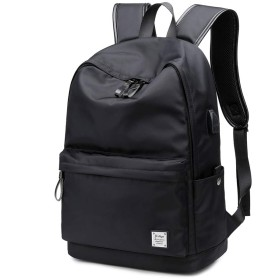 [Ysbage] ビジネスリュック バックパック USB充電ポート付き 15.6インチ収納 防水 大容量 衝撃吸収 多機能ポケット 通勤 通学 出張 旅行 アウトドア メンズ用 黒