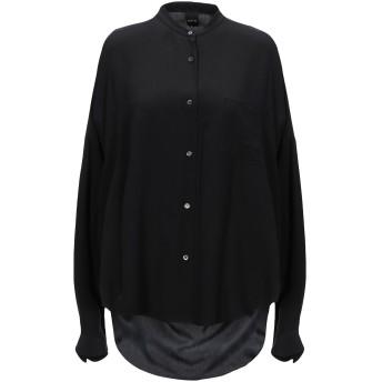《セール開催中》ASPESI レディース シャツ ブラック 42 シルク 100%