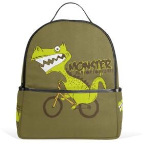 旅立の店 リュックサック バックパック  恐竜柄 自転車 ポリエステル+レザー ファッション 通勤 通学