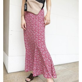 【アンレリッシュ/UNRELISH】 フラワーマーメイドスカート