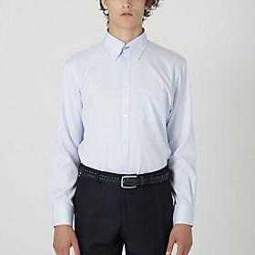 【Crestbridge 】【イージーケア】ソリッドツイルボタンダウンシャツ