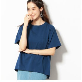 【Purple & Yellow:トップス】ショートワイド Tシャツ