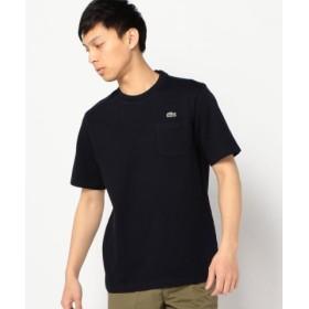 (SHIPS/シップス)LACOSTE: TH219E ヘビー カノコ ポケット Tシャツ/メンズ ネイビー 送料無料