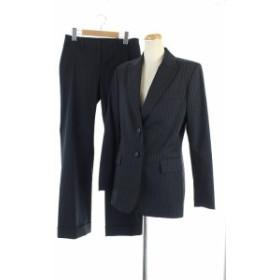 【中古】セオリー theory セットアップ 上下 スーツ ジャケット テーラード 総裏地 2 0 黒 /KN レディース