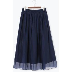 【6,000円(税込)以上のお買物で全国送料無料。】オーガンジーマキシスカート