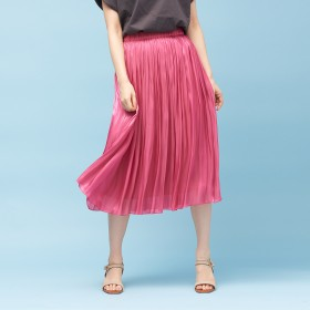Rouge vif(ルージュ・ヴィフ)/【定番新色】サテンギャザースカート2