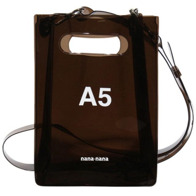 nana-nana 【nana-nana】PVC A5 BAG BLACK F