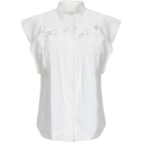 《期間限定セール開催中!》CHLO レディース シャツ ホワイト 34 麻 100% / ポリエステル / 陶製