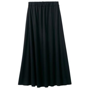 GeeRA 【3L】洗えるCOOLFIBERフレアーロングスカート ブラック 3L レディース 5,000円(税抜)以上購入で送料無料 ロングスカート 夏 レディースファッション アパレル 通販 大きいサイズ コーデ 安い おしゃれ お洒落 20代 30代 40代 50代 女性 スカート