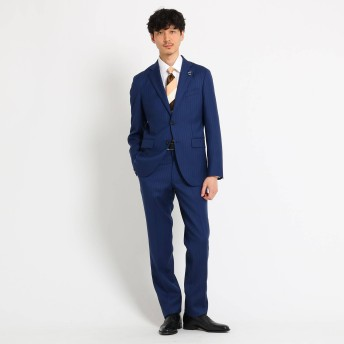 TAKEO KIKUCHI(タケオキクチ:メンズ)/【PNJ】カラーストライプスーツFabric by MIYUKI Bemback(R)[ メンズ スーツ ビジネス 日本製 ]