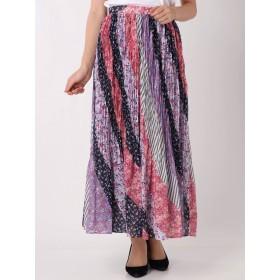 [MERCURYDUO]パッチワークフラワープリーツスカート