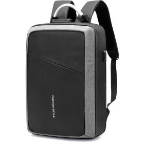 バックパック 新型防犯リュック 防水ビジネスリュック 大容量 多機能 リュックサック USBボード 旅行&ビジネスバッグ