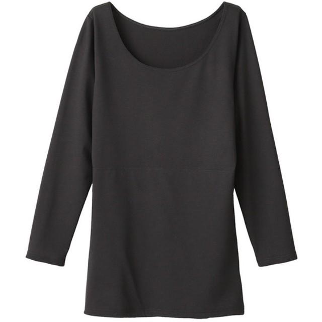 レディース セブンプレミアムライフスタイル 婦人 SuTeKiサポート お腹二重8分袖シャツ