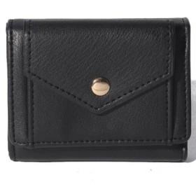 (Laplace box/ラプラスボックス)レター三つ折りミニ財布/レディース ブラック