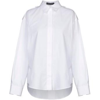 《セール開催中》CEDRIC CHARLIER レディース シャツ ホワイト 42 コットン 100%
