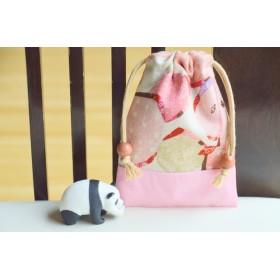 りんごdesign〉甘酸っぱ〜いぴちぴち果物巾着袋