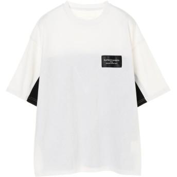 【6,000円(税込)以上のお買物で全国送料無料。】別注【SUPERTHANKS/スーパーサンクス】切替ビッグシルエット半袖Tシャツ