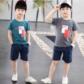 子供服 セットアップ 夏 男の子 ジャージ キッズ 韓國子供服 ジュニア 上下セット 半袖 Tシャツ ショートパンツ ベビー服