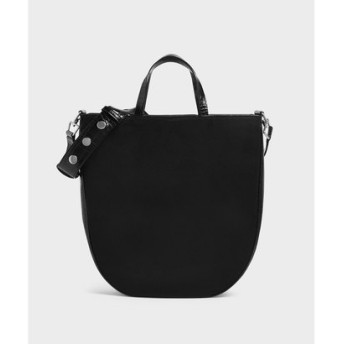 【2019 FALL 新作】スエード トートバッグ / Suede Tote Bag (Black)