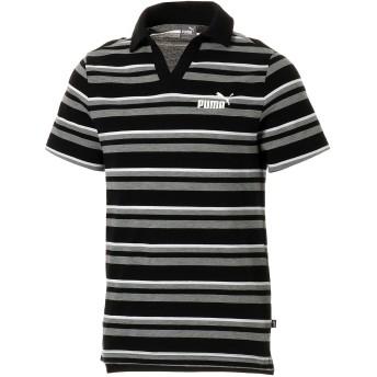 【プーマ公式通販】 プーマ ESS+ ストライプ オープンポロシャツ 半袖 メンズ Cotton Black |PUMA.com