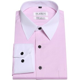 TS,RD.UG ワイシャツ メンズ 長袖 形態安定 ビジネスシャツ レギュラーフィット 形状記憶シャツ ノーアイロン 透けない