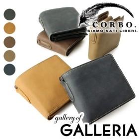 コルボ CORBO 財布 二つ折り財布 コルボ box型小銭入れ メンズ 革 corbo. Curious 8LO-9931