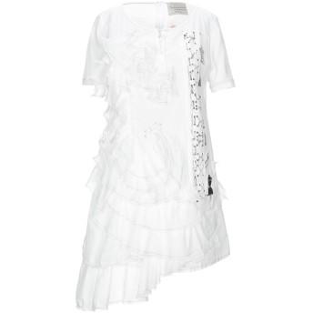 《セール開催中》ELISA CAVALETTI by DANIELA DALLAVALLE レディース ミニワンピース&ドレス アイボリー S コットン 100%