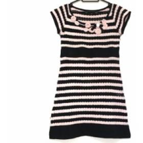 クレイサス CLATHAS ワンピース サイズ38 M レディース 美品 ピンク×黒 フラワー【中古】20190724