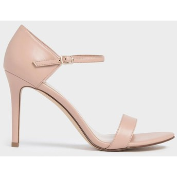 【2019 FALL 新作】パテントストラッピー スティレットヒール / Patent Strappy Stiletto Heels (Nude)