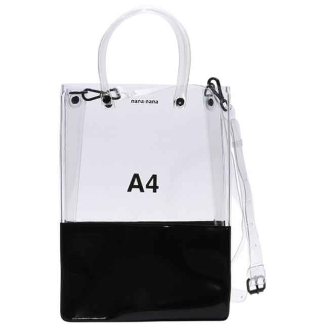 nana-nana 【nana-nana】PVC OPAQUE A4 BAG CLEAR/BLACK F