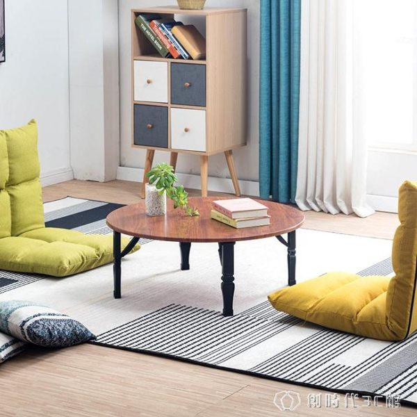 折疊地桌家用桌炕桌床上簡易餐桌書桌方桌小矮桌榻榻米飄窗小圓桌 創時代3c館